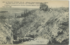 Captured German trench between Hardecourt & Maricourt