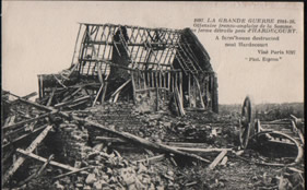 Farm in ruins near Hardecourt 1916