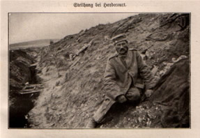 German Soldier Hardecourt Trench 1916