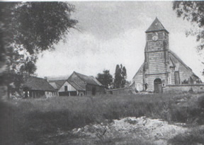 Hardecourt Church before its destruction in 1916