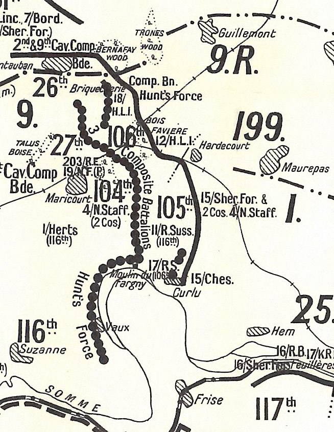 British & German Positions 25 March 1918